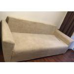 Чехол на диван плюшевый капучино