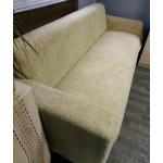 Чехол на диван плюшевый бежевый