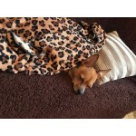 Чехол на диван плюшевый темно-коричневый