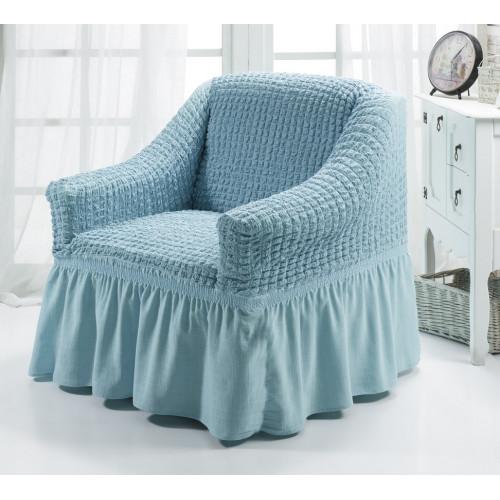 Чехол на кресло бирюзовый
