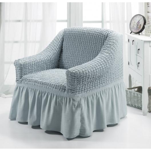Чехол на кресло серый