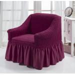 Чехол на кресло сливовый