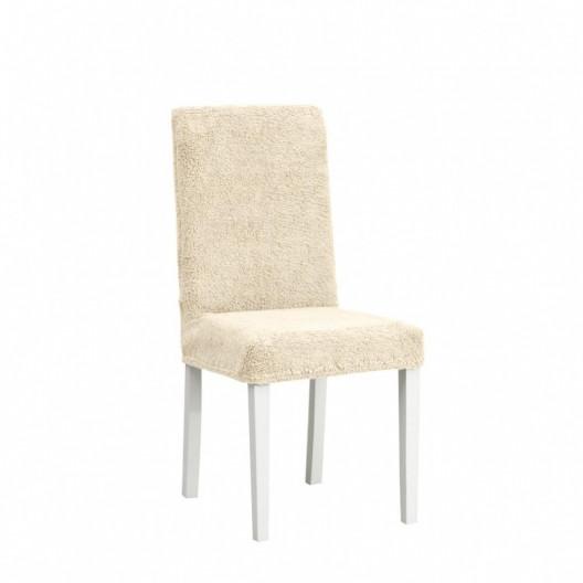 Чехлы на стулья плюшевый бежевый