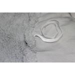 Чехол на угловой диван плюшевый серый