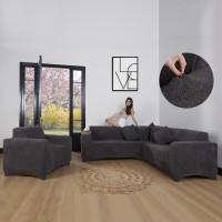 Чехлы на угловой диван плюшевые