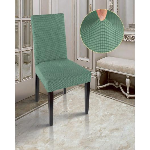 Чехлы на стулья комфорт малахит