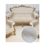 Накидка на диван и кресла Savanna D3 (Молочный)