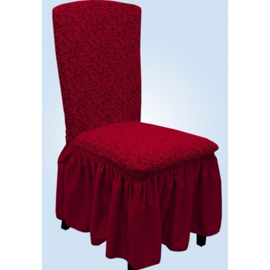 Чехлы на стулья жаккард бордовый