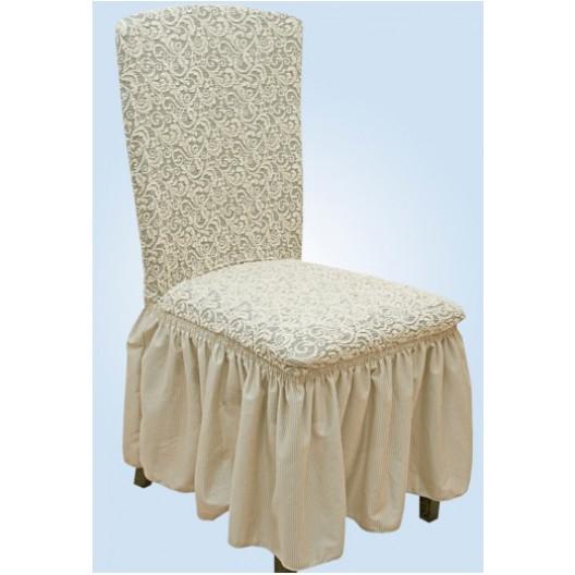 Чехлы на стулья жаккард кремовый