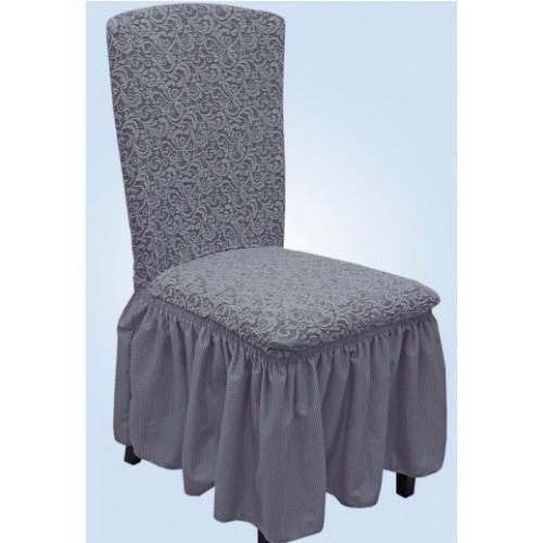 Чехлы на стулья жаккард серый