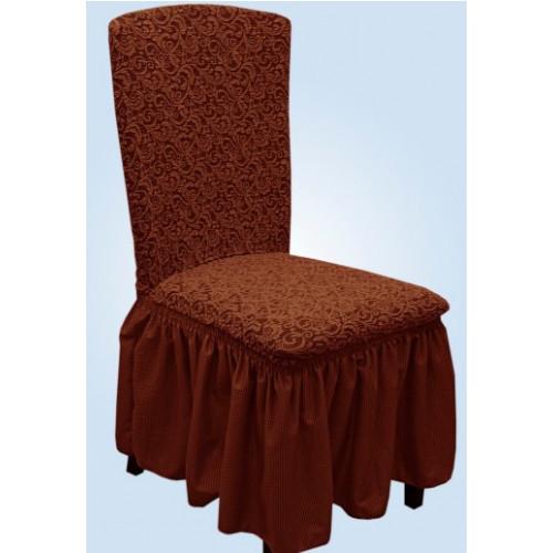 Чехлы на стулья жаккард шоколад