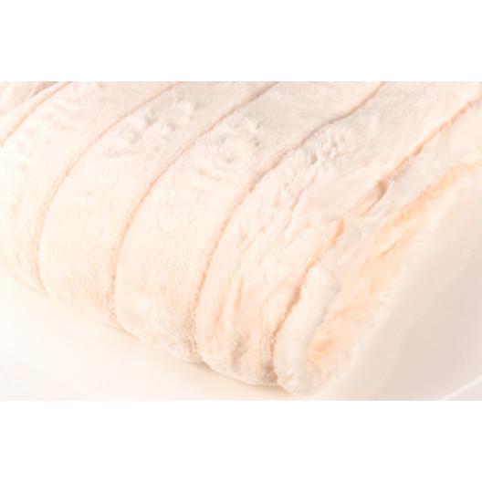 Плед кролик короткий ворс персик
