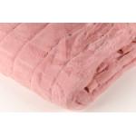 Плед кролик короткий ворс розовый