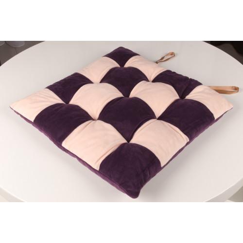 Сидушка шахматы фиолетовый