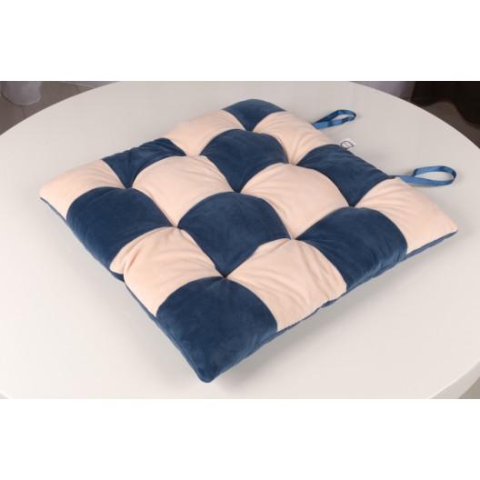 Сидушка шахматы синий