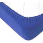 Простынь на резинке синий