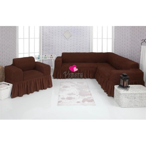 Чехол на угловой диван и кресло 201