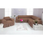 Чехол на угловой диван и кресло 202