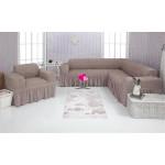 Чехол на угловой диван и кресло 205