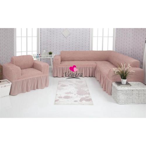 Чехол на угловой диван и кресло 206