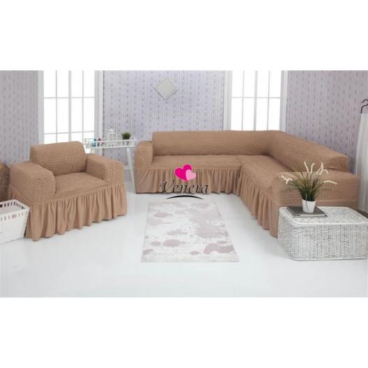Чехол на угловой диван и кресло 211
