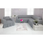 Чехол на угловой диван и кресло 216