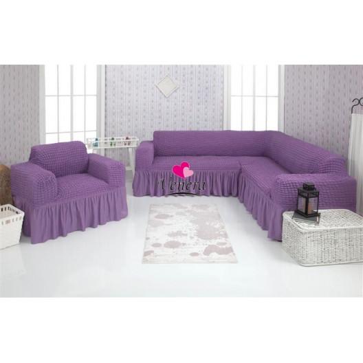 Чехол на угловой диван и кресло 217