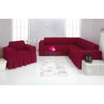 Чехол на угловой диван и кресло 221