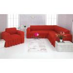 Чехол на угловой диван и кресло 223