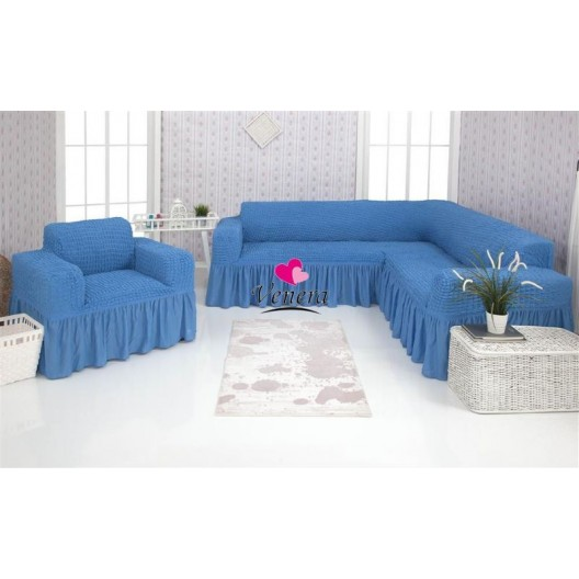 Чехол на угловой диван и кресло 226