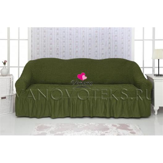222 Чехол на диван зеленый