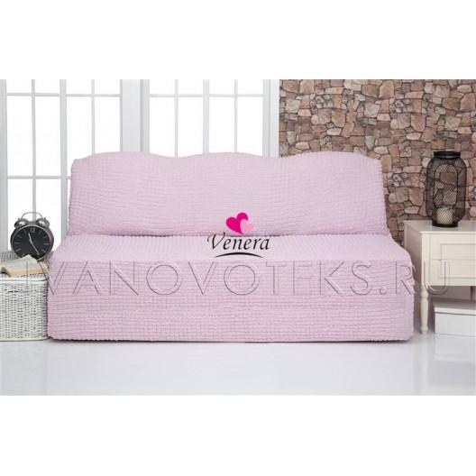 207 Чехол на диван без подлокотников розовый