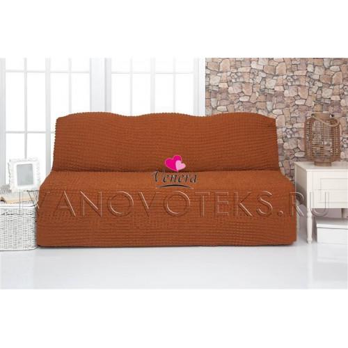 209 Чехол на диван без подлокотников горчичный