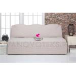 213 Чехол на диван без подлокотников пыльно-белый