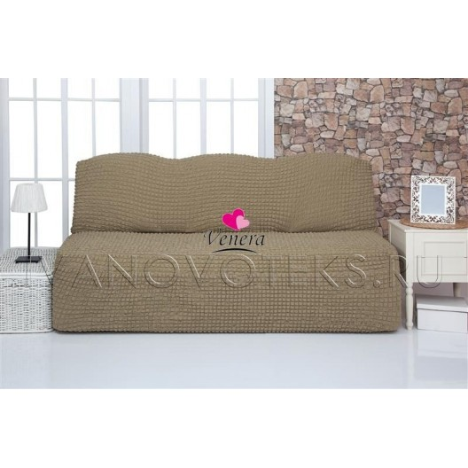 220 Чехол на диван без подлокотников темно-оливковый