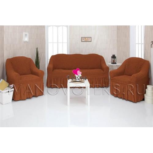 209 Чехлы на диван и два кресла горчичный