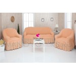 227 Чехлы на диван и два кресла персиковый