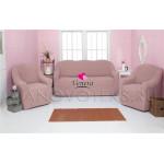206 Чехол на диван и два кресла без оборки пыльно-розовый