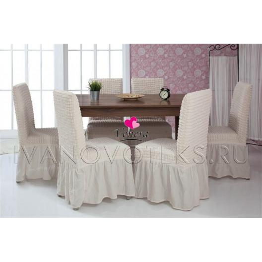 Чехлы на стулья кремовый (Арт. 204)
