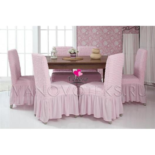 Чехлы на стулья розовый (Арт. 207)