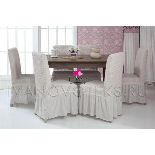 Чехлы на стулья пыльно-белый (Арт. 213)