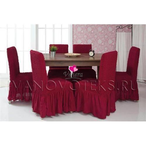 Чехлы на стулья бордо (Арт. 221)