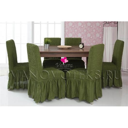 Чехлы на стулья зеленый (Арт. 222)
