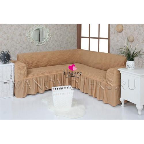 203 Чехол на угловой диван медовый