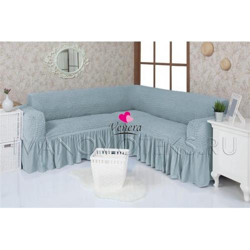 215 Чехол на угловой диван бирюза
