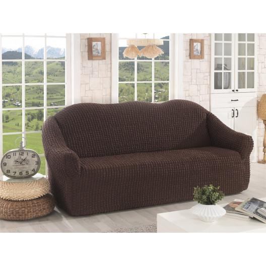 Чехол на диван без оборки шоколад