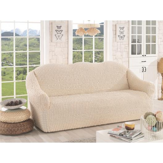Чехол на диван без оборки натуральный
