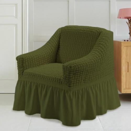 Чехол на кресло зеленый